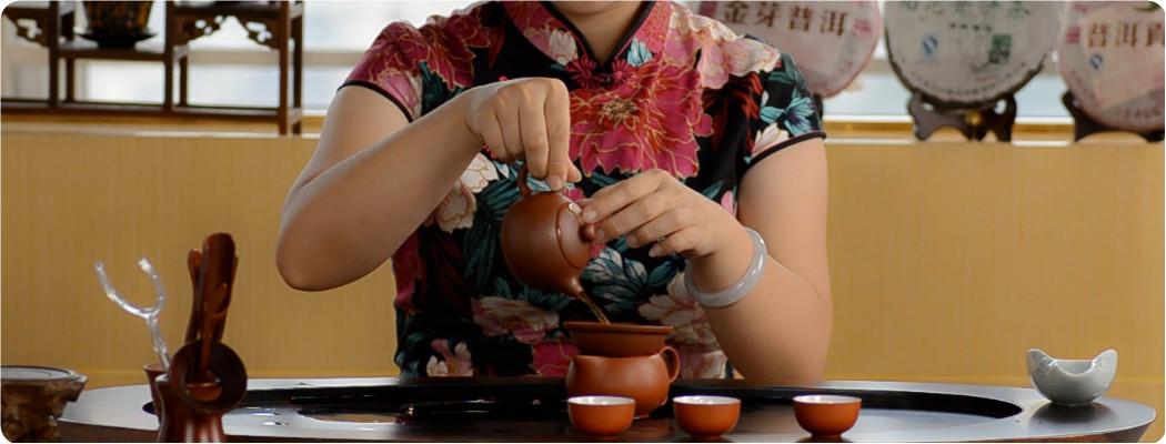 Enjoyable Pu-erh Tea -rinse the tea