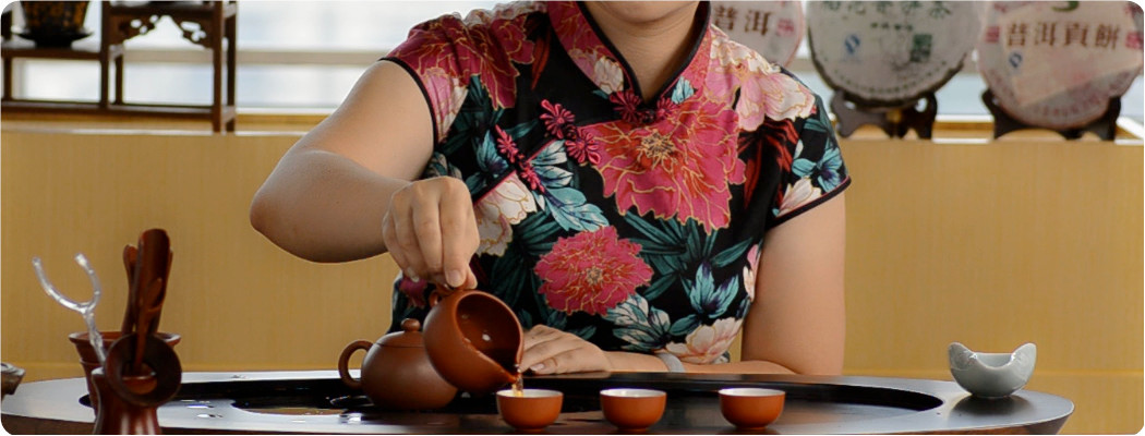Enjoyable Pu-erh Tea -rinse the tea