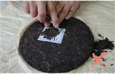 Wrong Method to Pry Puerh