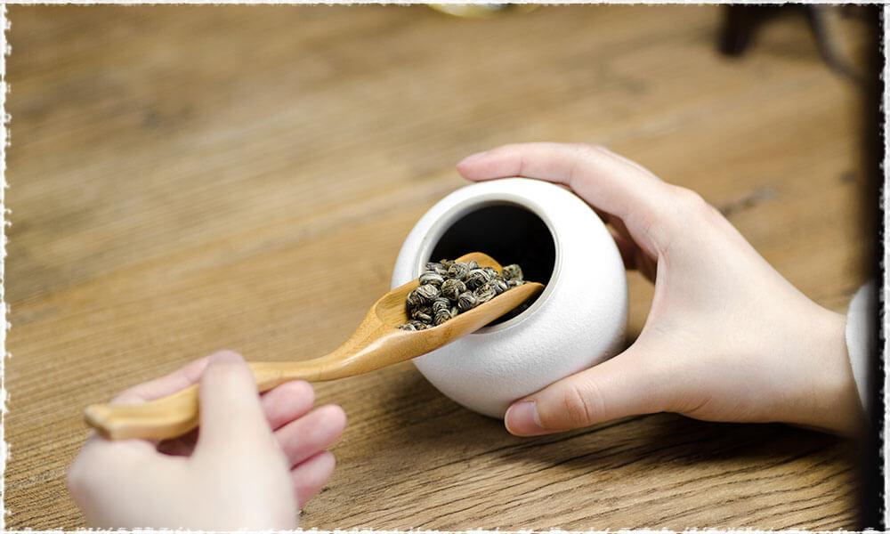 Jasmine Downy Dragon Pearls Green Tea