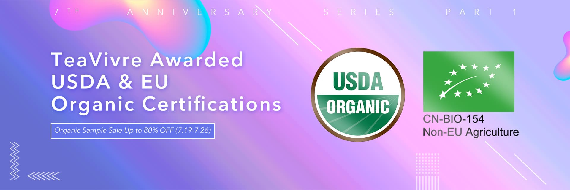 TeaVivre has Awarded USDA & EU Organic Certifications