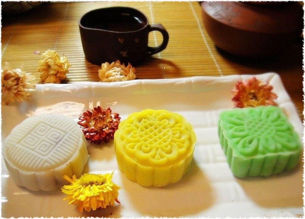 tea with mooncake