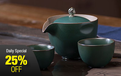 Coarse Pottery Travel Tea Set