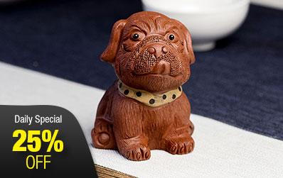 Shar-Pei Dog Yixing Zisha Tea Pet