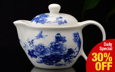 Chinese Porcelain Ceramic Teapot with Infuser 400ml / 13.5oz