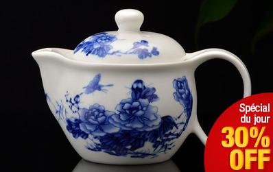 Théière Lan Mu Dan en porcelaine jade - 350 ml