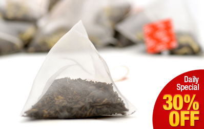 Ripened Loose Pu-erh Pyramid Tea Bag