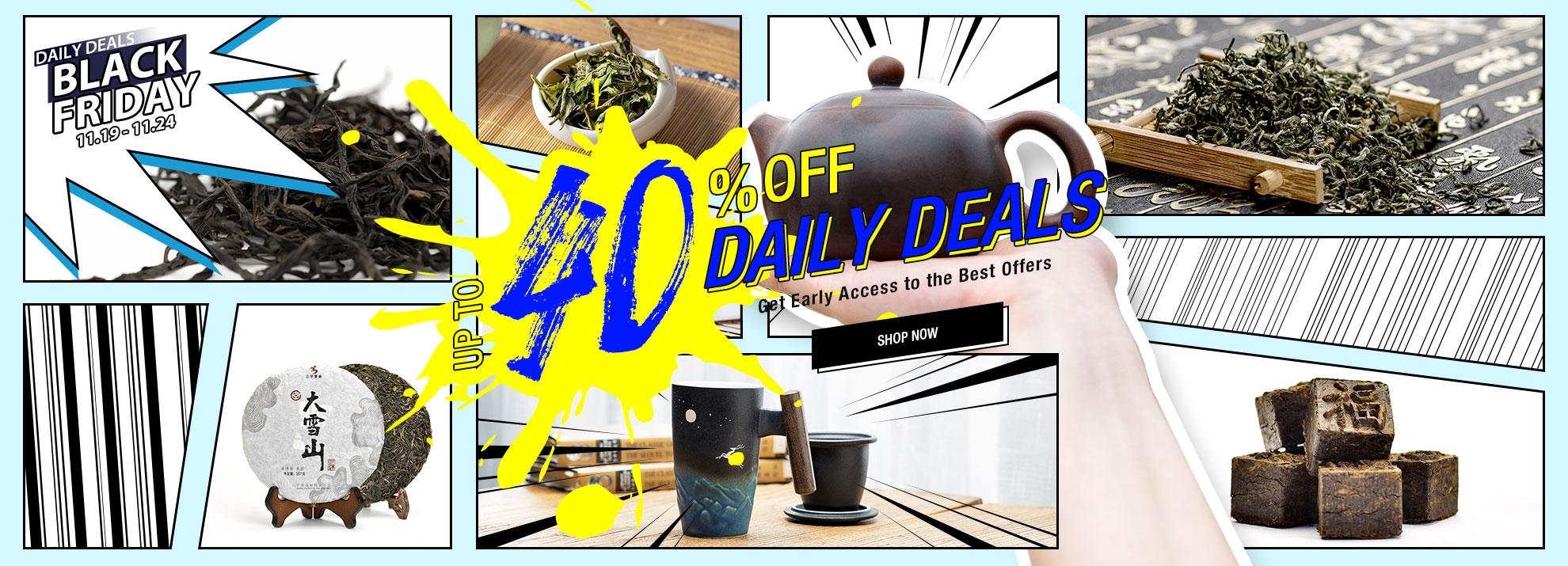 Up to 40% off Daily Deals – TeaVivre Black Friday Sale