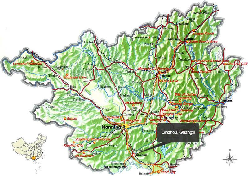 Qinzhou city, Guangxi province