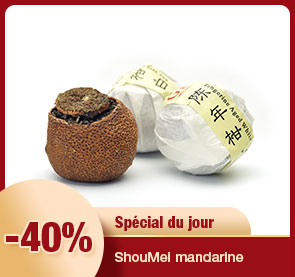 ShouMei mandarine : thé blanc