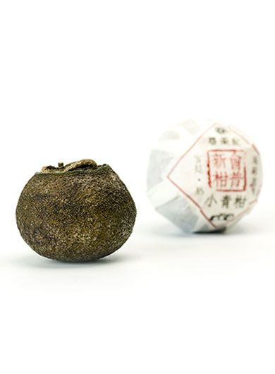 Xinhui Green Mandarin Orange Ripened Pu-erh Tea
