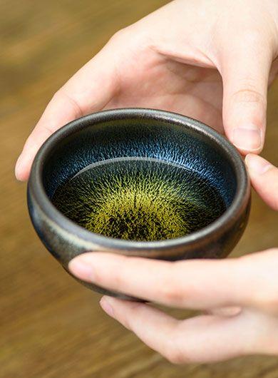 Handmade Jianyang Jianzhan Tea Cup - Blue Sky