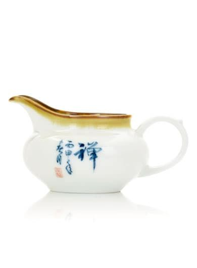 Handwritten Calligraphy Porcelain Tea Pitcher