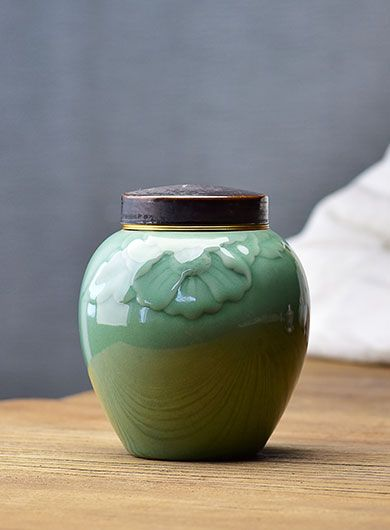 Celadon (Green-Glazed) Ceramic Tea Caddy