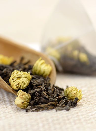 Chrysanthemum Buds (Tai Ju) Pu-erh Tea Bag