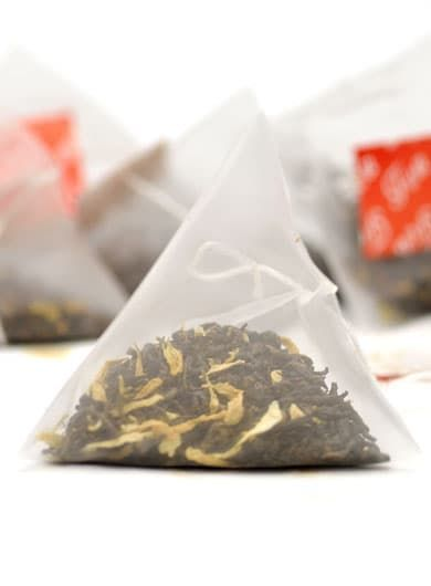 Chrysanthemum Ripened Loose Pu-erh Pyramid Tea Bag1