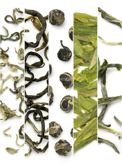 5 Top Sellers Green Teas Assortment Samples
