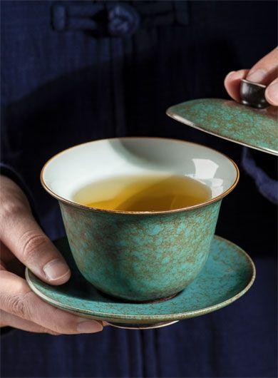 Fambe Glaze Pottery Gaiwan