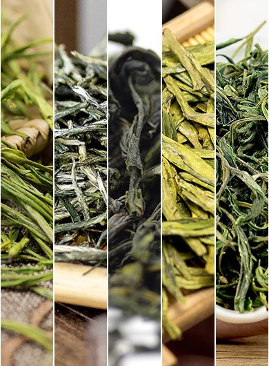 5 Featured Green Teas Assortment Samples