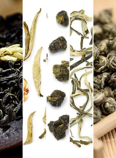 5 Featured Flavored Teas Assortment Samples