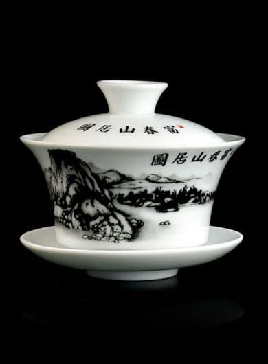 Fuchun Shanju Tu Porcelain Gaiwan