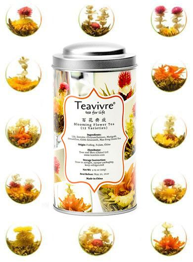 Mixed Flower Teas (Twelve Pieces) - Tin