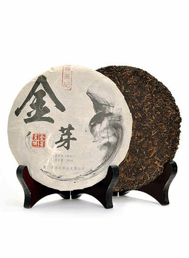 Menghai Golden Buds Tribute Ripened Pu-erh Cake Tea 2009