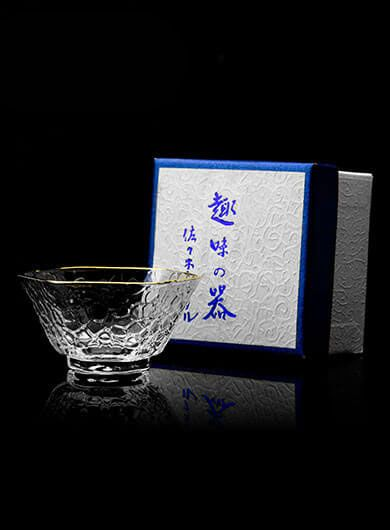 Gold Rimmed Glass Tea Cup