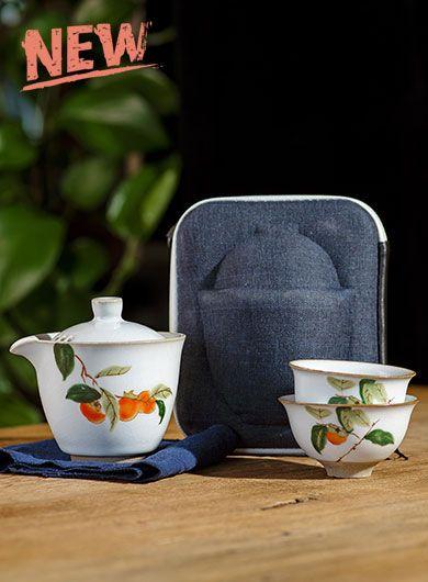 Japanese Style Ru Yao Kuai Ke Bei Travel Tea Set
