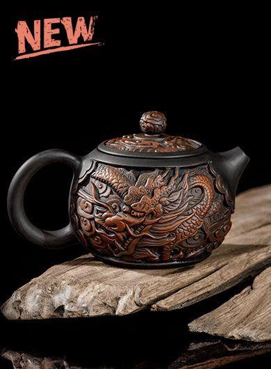 Handmade Jianshui Zitao Pottery Teapot – Chinese Dragon