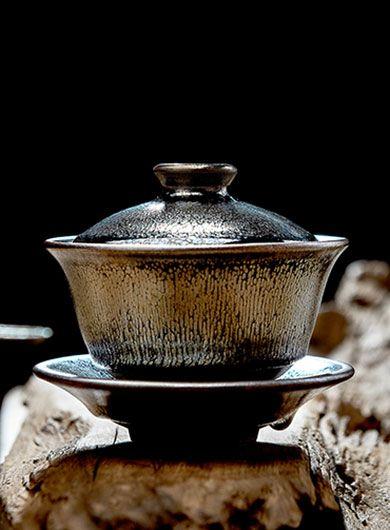 Handmade Jianyang Jianzhan Gaiwan