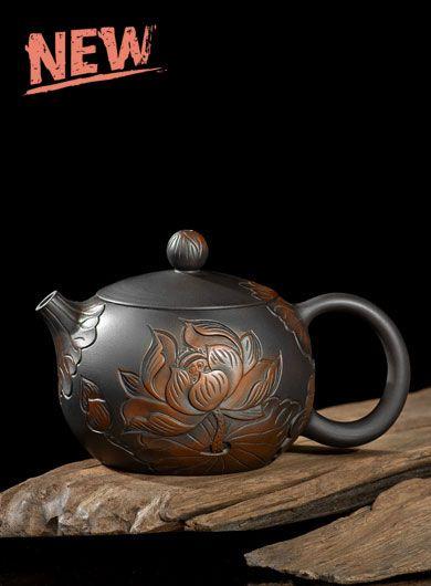 Handmade Jianshui Zitao Pottery Teapot - Lotus Xishi