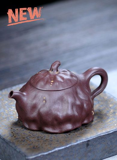 Handmade Lotus Yixing Zisha Teapot