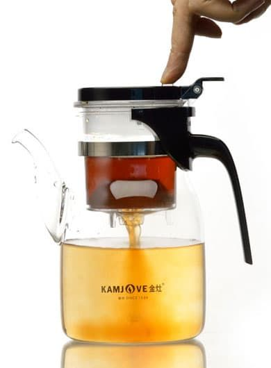 Manually Blow-Molded Glass Infuser Teapot 900ml / 21oz Category