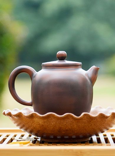 Handmade QinzhouNixingPottery Teapot Mulan