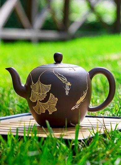 Handmade Qinzhou Nixing Pottery Teapot Mei Ren Jian