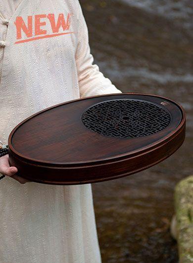 Bamboo Oval Tea Tray