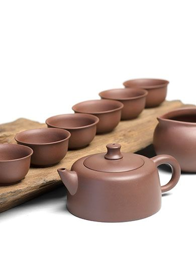 Yixing Purple Clay (Zi Sha) Tea Set 8 Pieces
