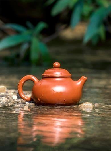 Hand-made Rong Tian Yixing Zisha Teapot