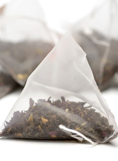 Rose Ripened Loose Pu-erh Pyramid Tea Bag 1