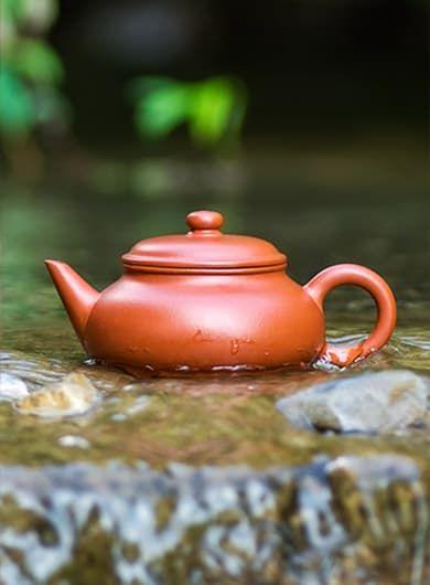 Handmade Short Shui Ping Yixing Zisha Teapot