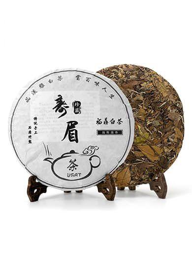 Fuding Shou Mei White Tea Cake 2014