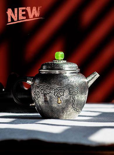 Handmade Pure Silver Teapot 110ml
