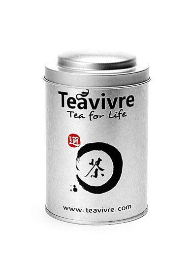Double Lidded  Silver Tea Tin