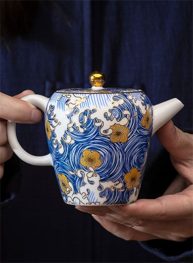 Starry Sky Enamel Porcelain Teapot