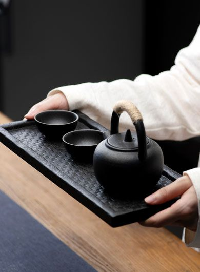 Black Pottery Ti Liang Teapot Set