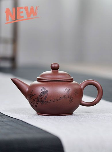 Handmade Zi Ni Shui Ping Yixing Zisha Teapot