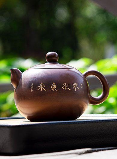 Handmade Qinzhou Nixing Pottery Teapot Ziqi Donglai