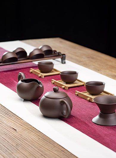 Economical Yixing Purple Clay (Zi Sha) Tea Set 14 Pieces Category