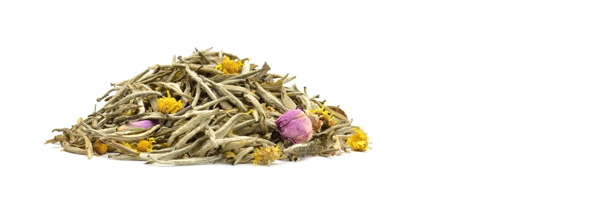 Chamomile Rose Silver Needle White Tea Teavivre